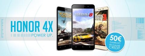 Honor collabora con Gameloft per offrire agli utenti di Honor 4X un'esperienza gaming coinvolgente