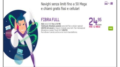 Tiscali: al via la nuova offerta in fibra ottica per internet superveloce fino a 50 MB