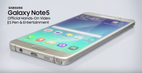 Galaxy Note 5: due nuovi video hands-on ufficiali