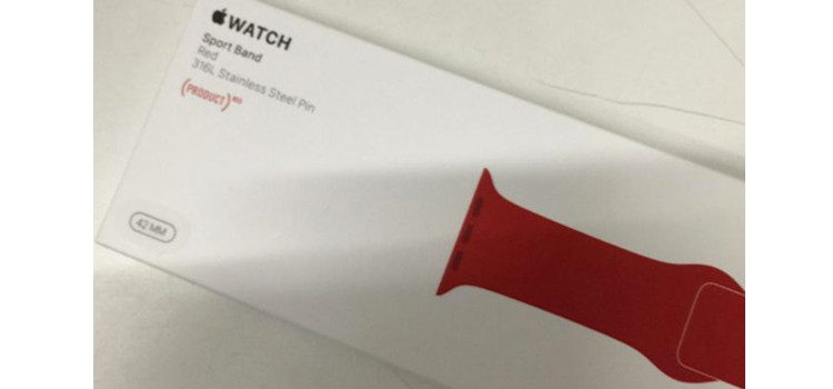Apple Watch: in arrivo la versione Red Sport Band Production