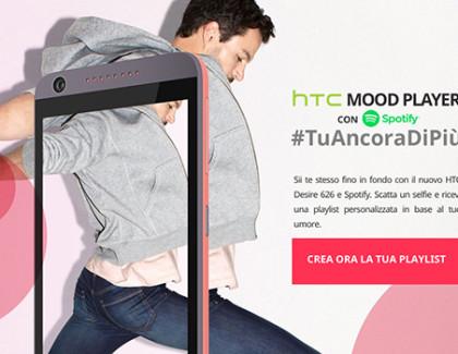 HTC e Spotify lanciano le playlist che rispecchiano l'umore