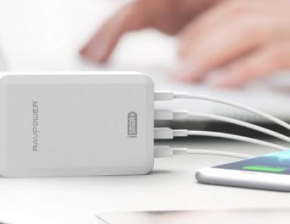 RavPower: caricatore con 4 porte USB e tecnologia iSmart 36W/7 a 14,39€