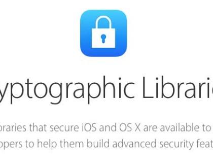 Apple rende pubbliche le librerie di cifratura di iOS e OS X