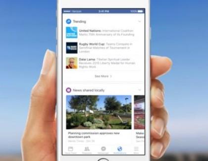 Su Facebook arrivano le schede in stile Google Now personalizzabili
