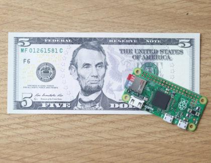 Raspberry Pi Zero, computer da 5 dollari