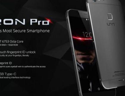 UMi Iron Pro: smartphone con tutti i sistemi di sicurezza disponibili al momento