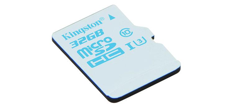 Kingston presenta la microSD ideale per action camera, GoPro e droni