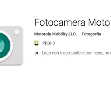 Motorola rilascia la nuova app Fotocamera nel Play Store