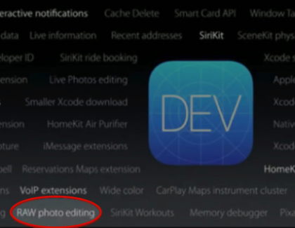 iOS 10 modifica foto in formato RAW