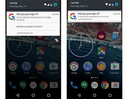 Google: notifiche per gli accessi al proprio account al posto delle email