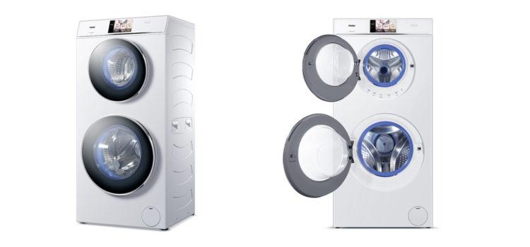 Haier duo dry per dimezzare i tempi di lavaggio e for Lavatrice doppio cestello