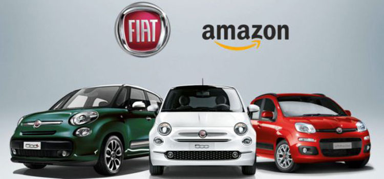 Amazon e Fiat per l'acquisto della auto online