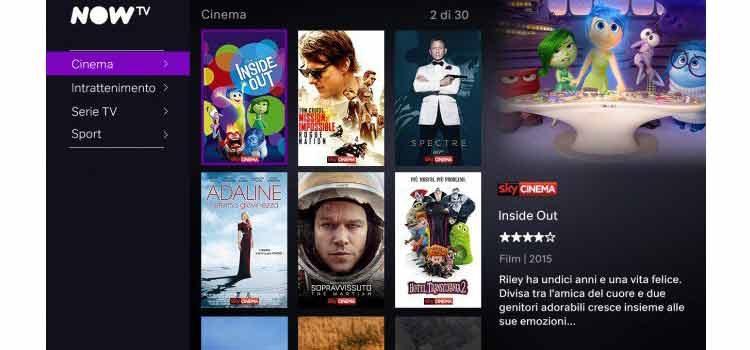 Sky propone Now TV Box, 3 mesi di Cinema e Serie TV a 29,99€