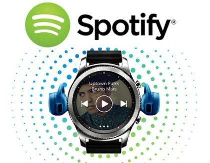 Arriva Spotify per Samsung Gear S2 e S3