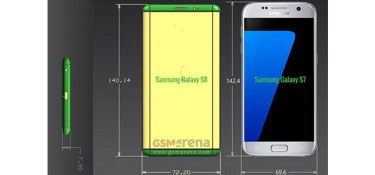 Galaxy S8 mostrato in nuovi render con display da 5.7″ e 6.2″ per il Plus