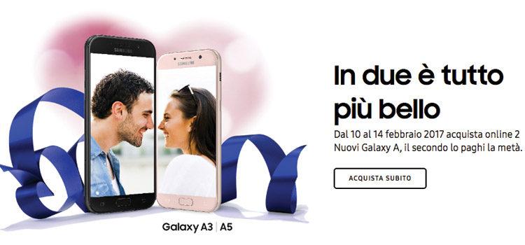 Samsung lancia la promozione per San Valentino con i Galaxy A