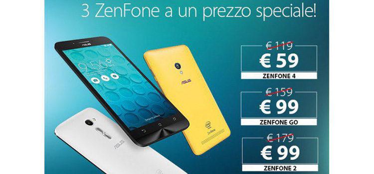 ASUS propone tre modelli di Zenfone a prezzo scontato