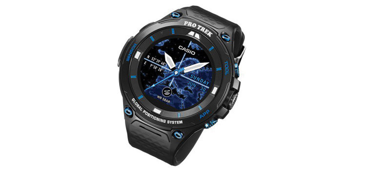 Casio Pro Trek WSD-F20S, smartwatch rugged con Android Wear 2.0