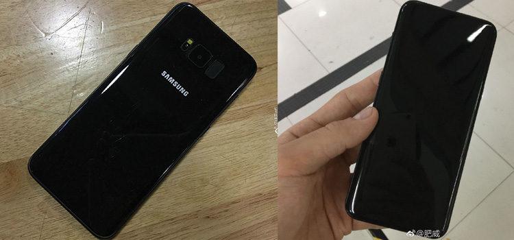 Samsung Galaxy S8 in sette foto nella colorazione nera