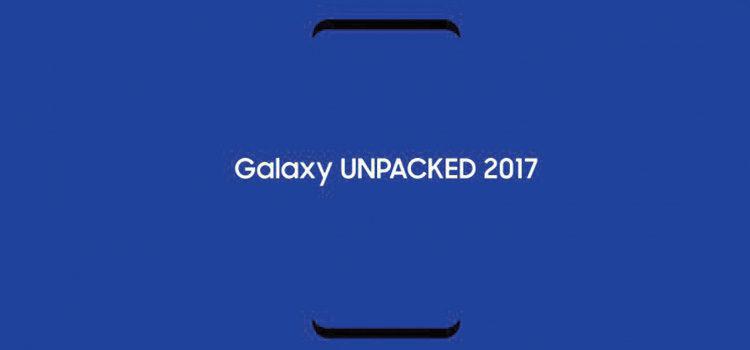 Galaxy S8, wallpaper ufficiali, benchmark e poster dell'evento