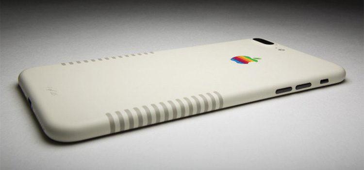 iPhone 7 Plus in Retro Edition in stile Macintosh