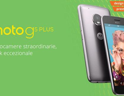 Moto G5 Plus a 268€ su Amazon con spedizioni a partire da domani