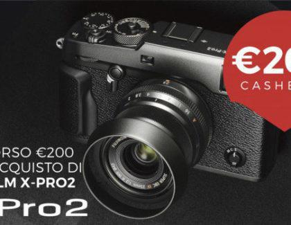 Fujifilm rimborsa 200€ all'acquisto di una fotocamera X-Pro2