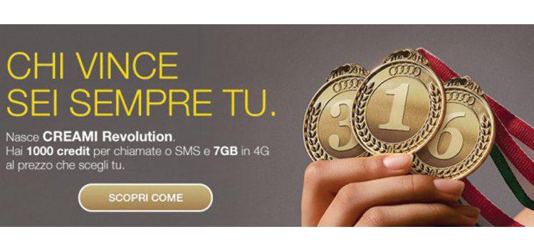 PosteMobile lancia Creami Revolution da 8€/mese con 1000 crediti e 7GB