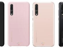 Le cover ufficiali del Huawei P20, Lite e Pro