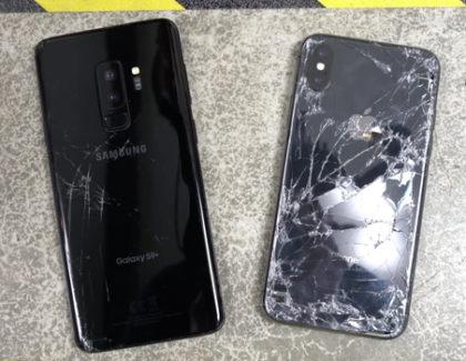 Galaxy S9 Plus sfida iPhone X nel test di caduta   video
