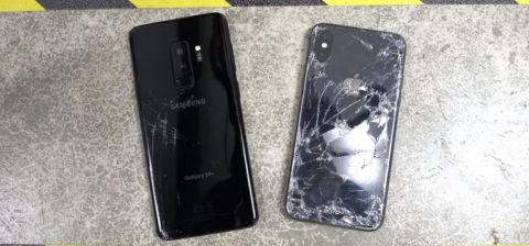 Galaxy S9 Plus sfida iPhone X nel test di caduta | video