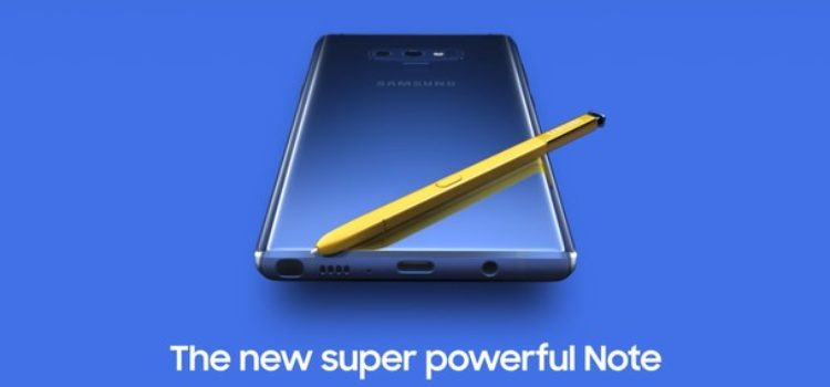 Samsung Galaxy Note 9: nuove specifiche e informazioni