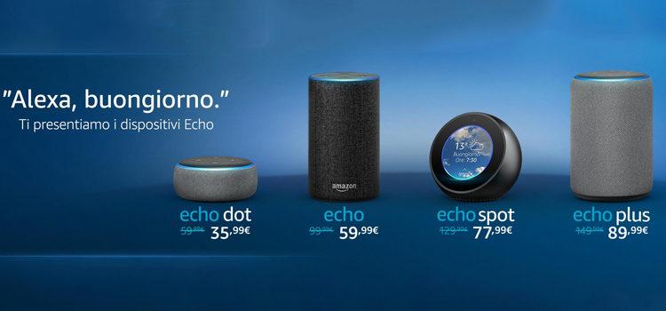 Amazon Alexa arriva in Italia ed ecco i nuovi Amazon Echo
