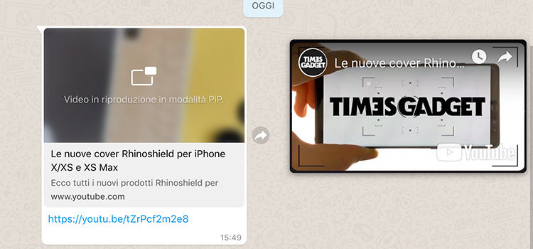 WhatsApp Web si aggiorna: video Picture in Picture per YouTube, Instagram e Facebook