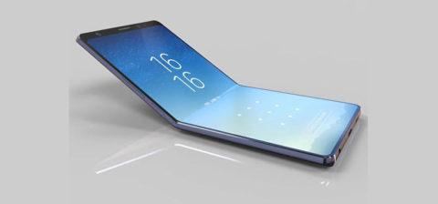 Samsung brevetta schermo flessibile a conchiglia