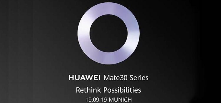 Huawei Mate 30 presentati il 19 settembre a Monaco di Baviera