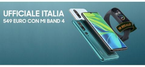 Xiaomi Mi Note 10 in Italia a 549 euro con Mi Smart Band 4