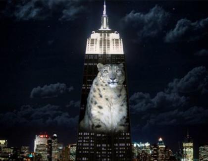 Empire State Building trasformato in uno schermo 5K con 40 proiettori