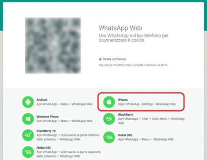 WhatsApp Web arriva anche per iPhone