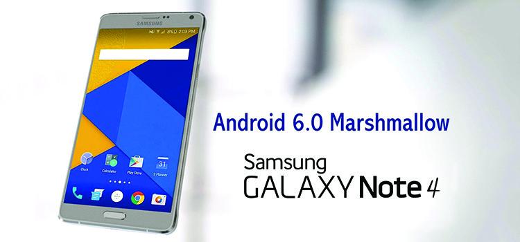 Galaxy Note 4 N910C: aggiornato ad Android 6.0 Marshmallow