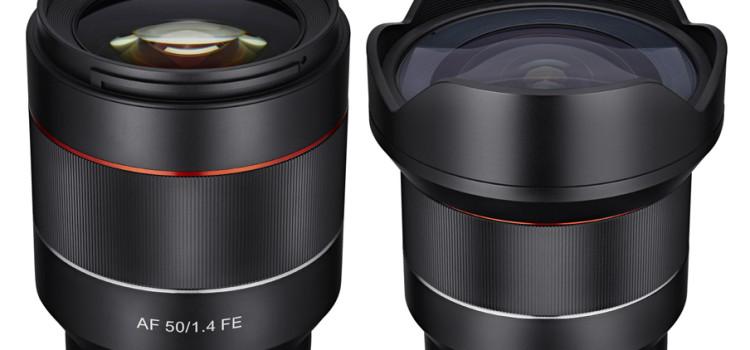 Nuovi obiettivi Samyang per Sony E-mount con autofocus: 50mm f/1.4 FE e 14mm f/2.8 FE!