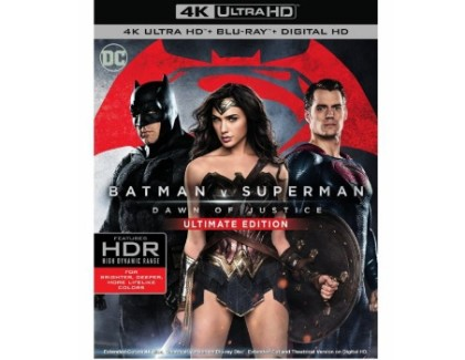 'Batman v Superman' in Ultra HD con supporto da 100GB