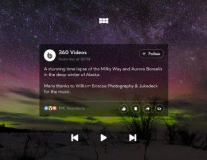 Facebook 360, l'app dedicata ai Samsung Gear VR