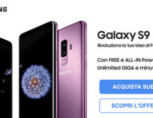 Galaxy S9 ed S9 Plus arrivano con 3 Italia. ALL-IN Power e Free Power con GB illimitati