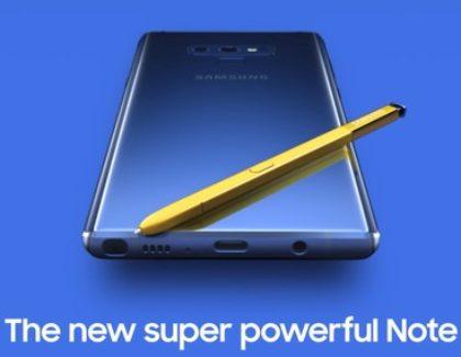 Samsung Galaxy Note 9: nuove specifiche e informazioni