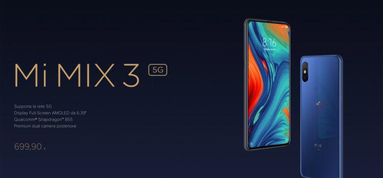 Lo Xiaomi Mi Mix 3 5G arriva ufficialmente in Italia con TIM